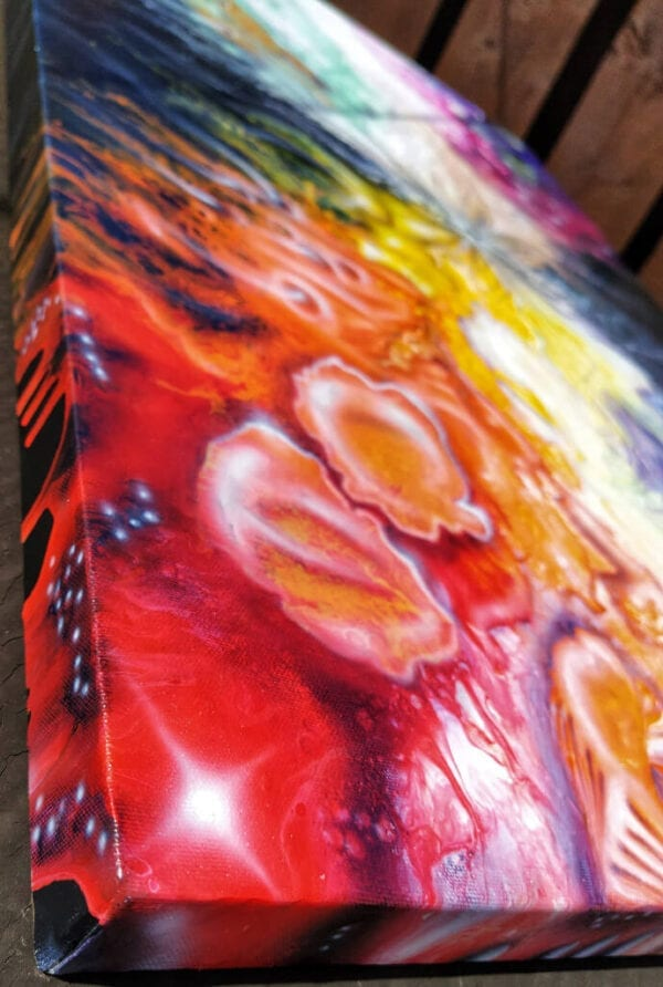New York City Psychedelia Acrylic Fluid Painting by Adrian Reynolds